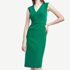 NWT Ann Taylor Piped Doubleweave Sheath Dress